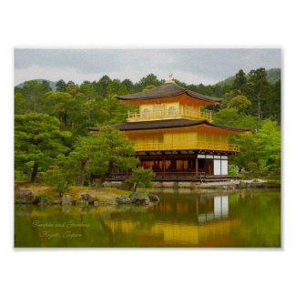Temples and Gardens, Kyoto-Japan Poster (Matte)