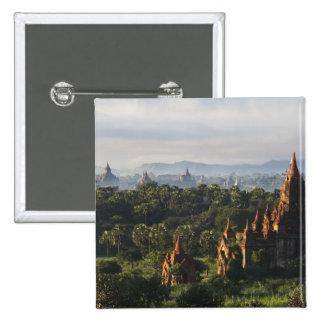 Temples at sunrise, Bagan, Myanmar Button