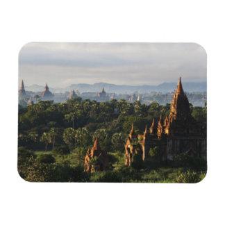 Temples at sunrise, Bagan, Myanmar Rectangular Photo Magnet