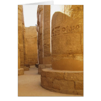 Temples of Karnak; Temple of Amon-Ra, hieroglyphic Cards