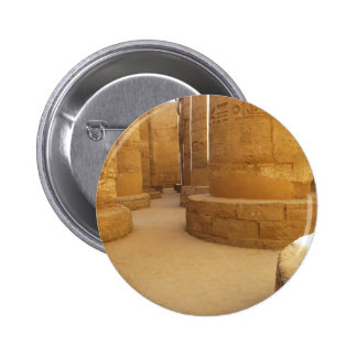 Temples of Karnak; Temple of Amon-Ra, hieroglyphic Pinback Button