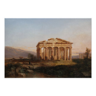 Temples of Paestum Poster