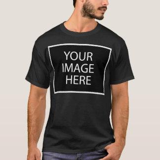 Templet of basic dark T shirt