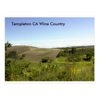 Templeton CA Wine Country Postcard