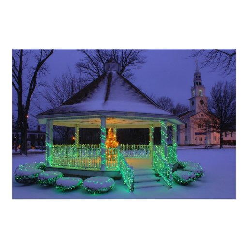 Templeton Common Holiday Lights Poster