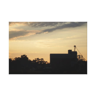 Templeton Feed and Grain Store at Sunset Canvas Print