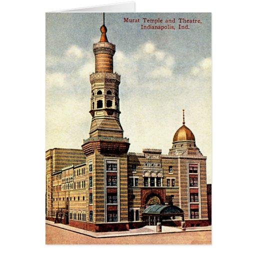 Templo 1910 de Indianapolis, Indiana Murat Tarjeta