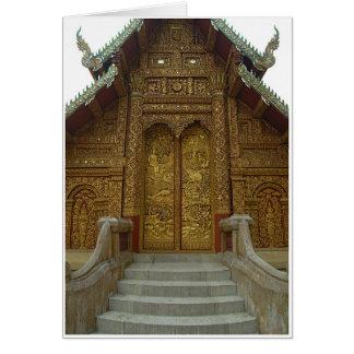 Templo adornado felicitación