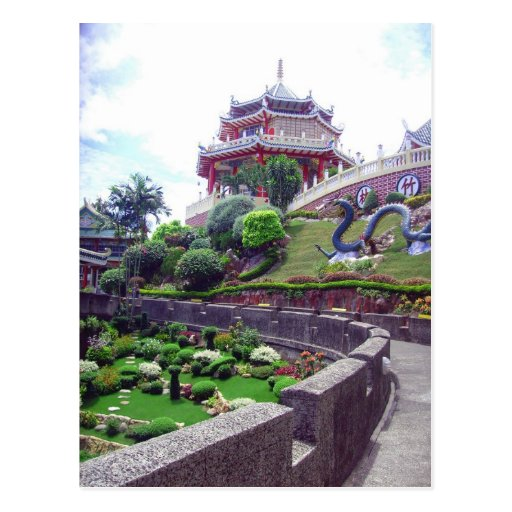 Templo asiático del Taoist Postales
