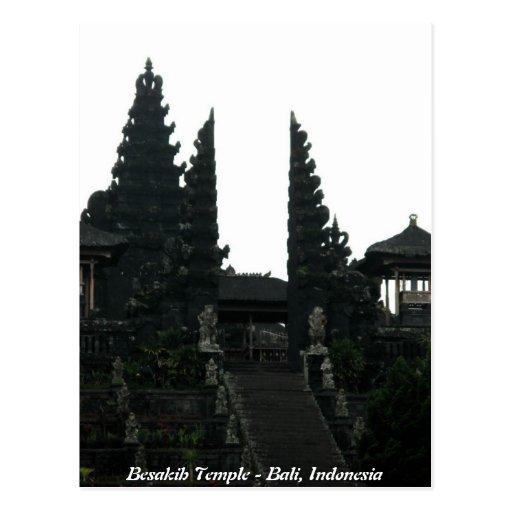 Templo Bali Indonesia de Besakih Tarjetas Postales