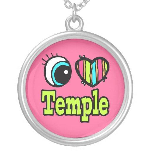 Templo brillante del amor del corazón I del ojo Colgante Redondo