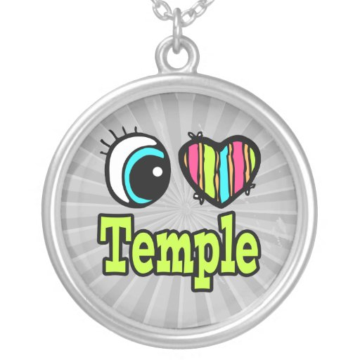 Templo brillante del amor del corazón I del ojo Pendientes