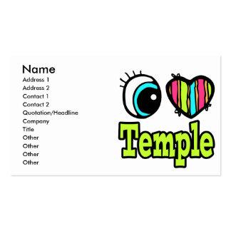 Templo brillante del amor del corazón I del ojo Plantilla De Tarjeta De Negocio