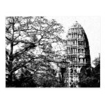 Templo budista antiguo tarjeta postal