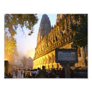 Templo budista Bodh Gaya la India de Mahabodhi Fotografía