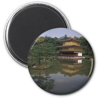 Templo budista de Kinkaku-ji Imán Redondo 5 Cm