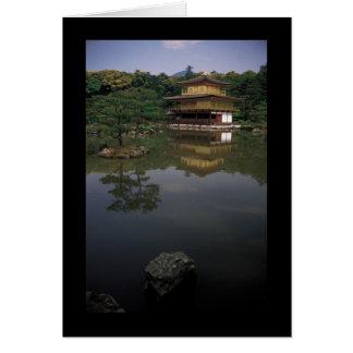 Templo budista de Kinkaku-ji Tarjeta De Felicitación