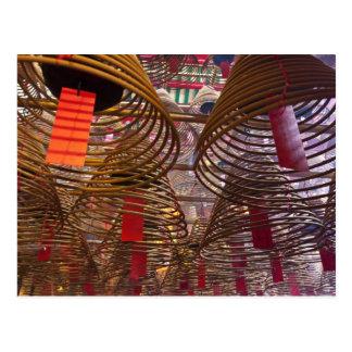 Templo budista del MES del hombre de Hong Kong 2 Tarjeta Postal