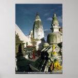 Templo budista en Katmandu, Nepal Posters