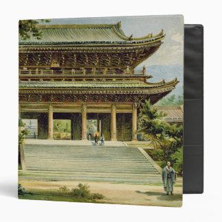 """Templo budista en Kyoto, Japón Carpeta 1 1/2"""""""