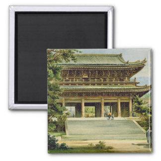 Templo budista en Kyoto, Japón Imán Cuadrado