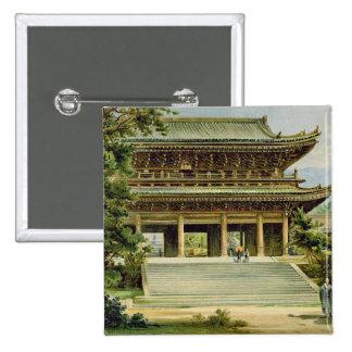 Templo budista en Kyoto, Japón Pin Cuadrado