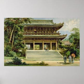 Templo budista en Kyoto, Japón Póster