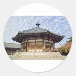 Templo budista Japón Pegatina Redonda
