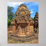 Templo Chandi de Banteay Srei Poster