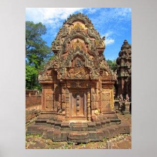 Templo Chandi de Banteay Srei Póster