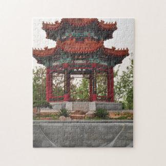 Templo chino en el rompecabezas de China