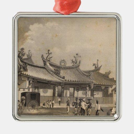 Templo chino, Singapur Adornos De Navidad