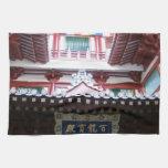 Templo chino toalla de cocina