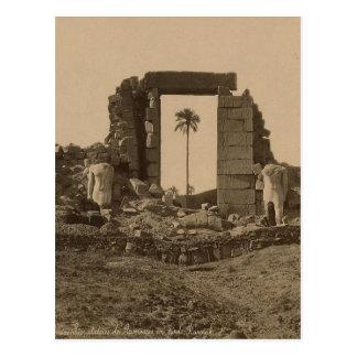 Templo de Amenophis, Egipto circa 1867 Postal