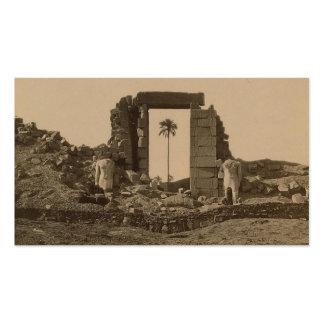 Templo de Amenophis, Egipto circa 1867 Tarjetas De Visita