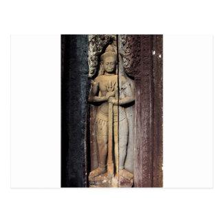 Templo de Angkor Wat de la escultura budista del a Postales