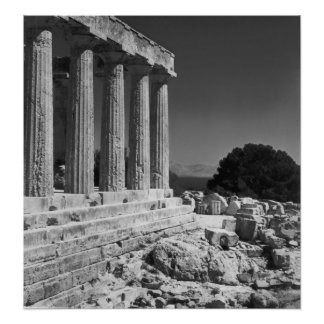 Templo de Aphaea Póster
