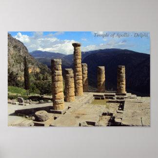 Templo de Apolo - Delphi Poster