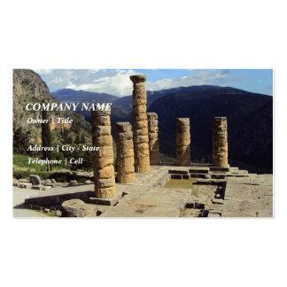 Templo de Apolo - Delphi Tarjetas De Visita