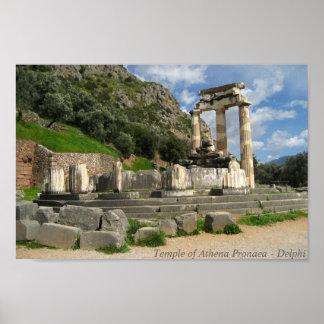 Templo de Athena Pronaea - Delphi Poster