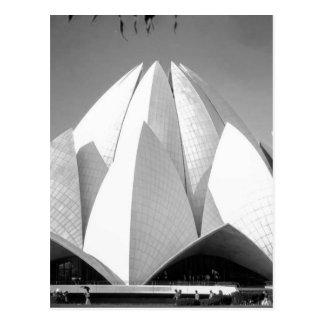 Templo de B&W Lotus Postales