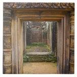 Templo de Banteay Srei, Angkor, provincia de Siem  Tejas