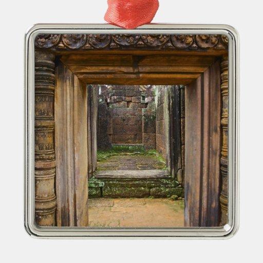 Templo de Banteay Srei, Angkor, provincia de Siem  Ornamentos De Navidad