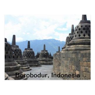 Templo de Borobodur Budhist, Indonesia Tarjeta Postal