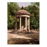 Templo de Bosco, obra clásica Photochrom de Roma,  Postales