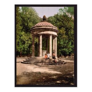 Templo de Bosco, obra clásica Photochrom de Roma,  Tarjetas Postales