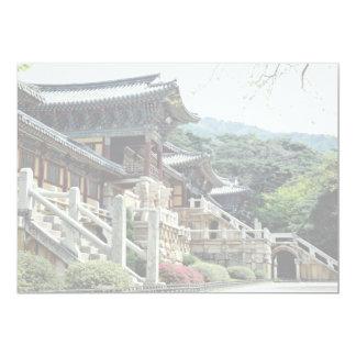 """Templo de Bulguksa, Kyongju, Corea del Sur Invitación 5"""" X 7"""""""