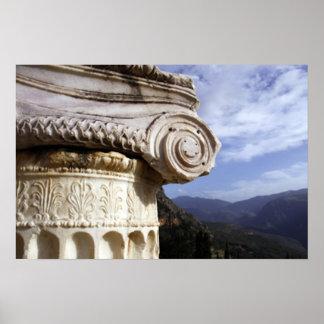 Templo de Delphi Póster