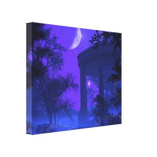 Templo de Diana en el claro de luna Lienzo Envuelto Para Galerías