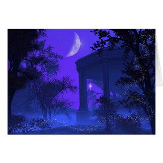 Templo de Diana en el claro de luna Tarjeton
